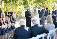 wine country wedding officiant